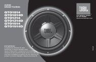 GTO1014 GTO1014D GTO1214 GTO1214D GTO1514 ... - JBL