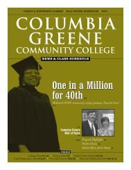 news & class schedule - Columbia-Greene Community College