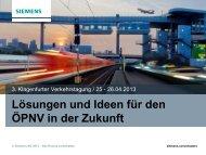 Siemens Nahverkehr in Österreich - MTZ Verkehrstagung