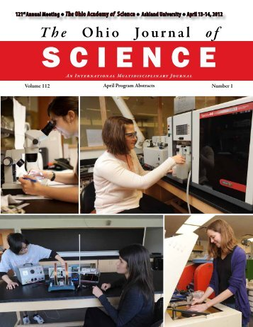 The Ohio Journal of - The Ohio Academy of Science