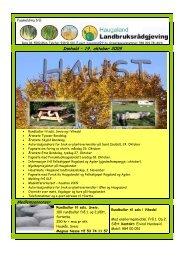 19. okt - Haugaland landbruksrådgjeving - Norsk Landbruksrådgiving