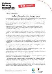 VicSuper Murray Marathon changes course - Moira Shire Council