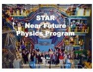Near Future STAR Physics Program