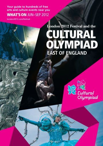 London 2012 Festival Cultural Olympiad East brochure