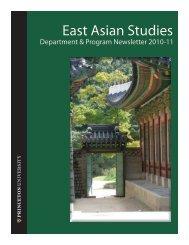 East Asian Studies - Princeton University