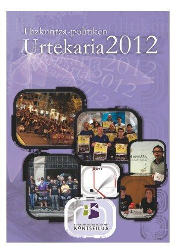 Hizkuntza-politiken Urtekaria 2012 - Erabili.com