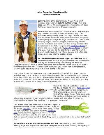 Lake Superior Smallmouth - Mepps
