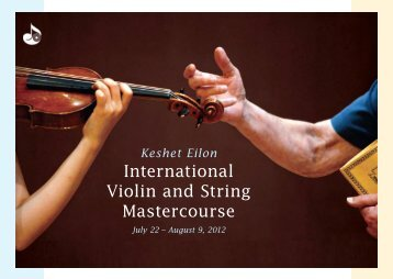 International Violin and String Mastercourse International Violin and ...