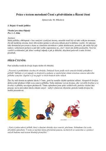 O malé jedličce – Čtení s předvídáním a Řízené čteni.pdf