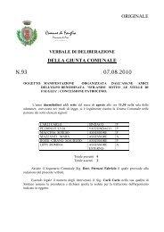 verbale di deliberazione della giunta comunale - Comune di Fauglia