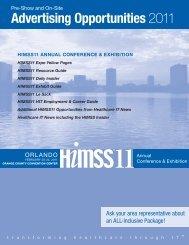 February 20-24, 2011 | Orlando - Healthcare IT News - Media Kit