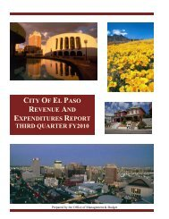 general fund analysis - City of El Paso