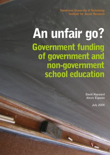 An unfair go? - The Swinburne Institute for Social Research