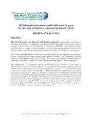 Code of Conduct - Alexander Graham Bell Association