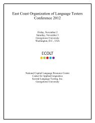 East Coast Organization of Language Testers Conference 2012