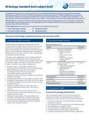 IB biology standard level subject brief - The International ...