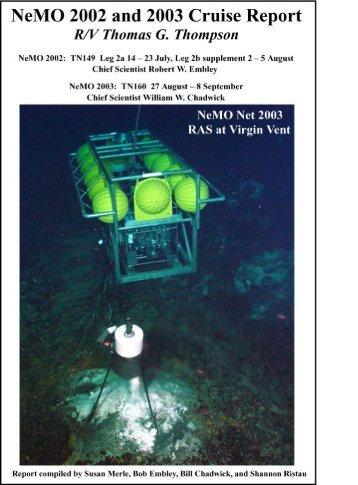 2003 (pdf) - Pacific Marine Environmental Laboratory (PMEL) - NOAA