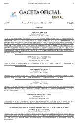 Gaceta No. 26031 - Gaceta Oficial Digital