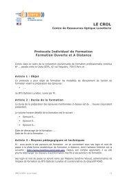 Protocole Individuel de Formation