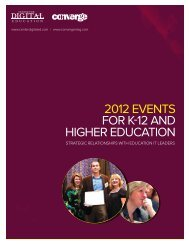 2012 EvEnts for K-12 and HigHEr Education - Navigator
