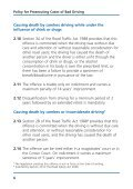 Policy for prosecuting cases of bad driving - Crown Prosecution ... - Page 7