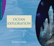 OCEAN EXPLORATION - Division on Earth and Life Studies - The ...