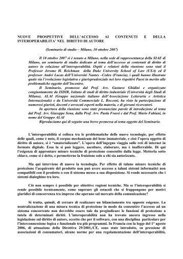NUOVE PROSPETTIVE DELL'ACCESSO AI CONTENUTI E DELLA ...