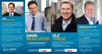 DAVID McALLISTER ULF THIELE
