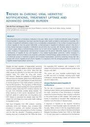 TRENDS IN CHRONIC VIRAL HEPATITIS NOTIFICATIONS, TREATMENT UPTAKE ...