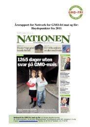 Årsrapport for Nettverk for GMO-fri mat og fôr ... - Bygdekvinnelaget