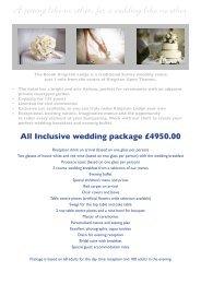 Wedding Packages - Brook Hotels