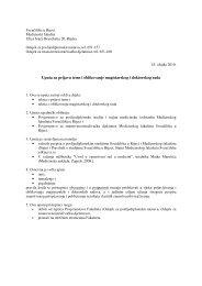 Uputa za prijavu teme i oblikovanje magistarskog i doktorskog rada
