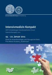 Intensivmedizin Kompakt - UniversitätsKlinikum Heidelberg