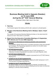 Minutes of the EGF Business Meeting 2008 - European Grassland ...