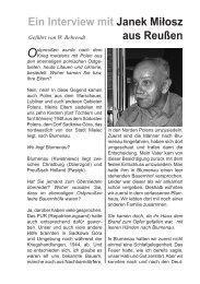 Ein Interview mit Janek Miłosz aus Reußen Geführt von W. Behrendt ...