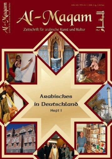 Arabisches in Deutschland - Al-Maqam, Zeitschrift für arabische ...