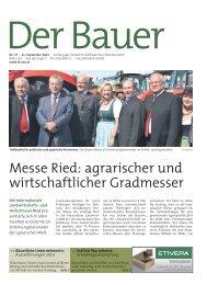 Der Bauer . 11. September 2013 - Landwirtschaftskammer Österreich