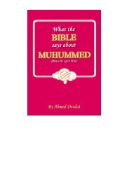 What the Bible says about Muhammad (PBUH) PDF-File - Way to Allah