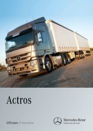 Actros Overview Brochure (903 KB, PDF) - Mercedes-Benz