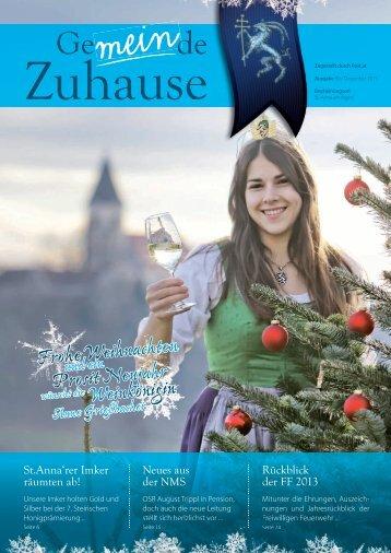 Aktuelle Gemeindezeitung herunterladen! - St. Anna am Aigen