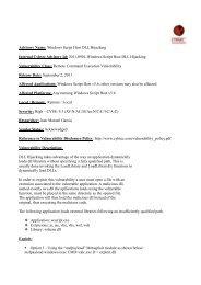 CYBSEC Advisory#2011-0901 ...