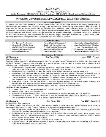 medical device resume sample resumes medical device sales resume