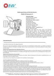 Bedienungsanleitung F&V Videoleuchte T4 - BEST of TECHNIC ...