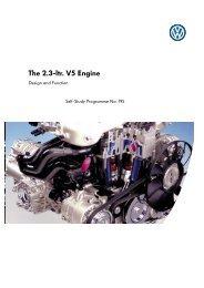 Self-Study Programme 195 The 2.3 ltr V5 Engine - Volkspage