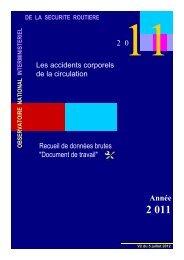 Le document de travail ONISR 2011 - Sécurité routière