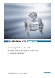 Krohne Waterflux 3000 Brochure - Incledon