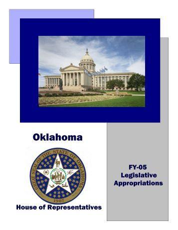 FY-05 Legislative Appropriations (4.2 MB) - Oklahoma House of ...