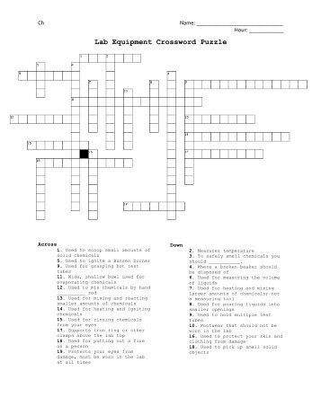 Lab Crossword Puzzle