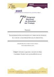 Transformaciones sociopolíticas y mercado de trabajo. El ... - ASET