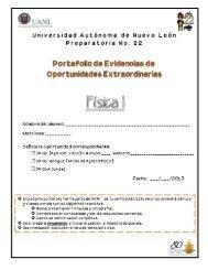 Tercera y Quinta Oportunidad Física I - Preparatoria 22